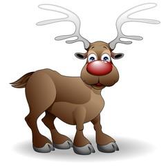 Renna di Natale-Cartoon Christmas Reindeer-Vector