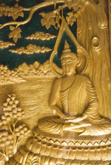 This low-relief carvings historical Buddha