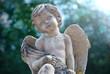 kleiner Engel vor Wald