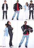 Young people on white background