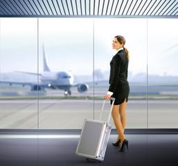traveler with luggage
