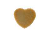isolated brown  thai jelly shaped heart