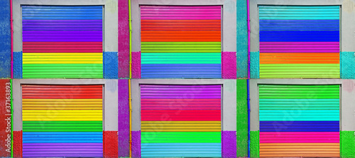 six color metal shutter