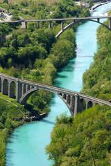 Stone bridge across the Soca River