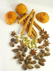 Orientalische Gewürze und Zitronenschalen