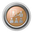 "Bronze 3D Style Button ""Health Education"""
