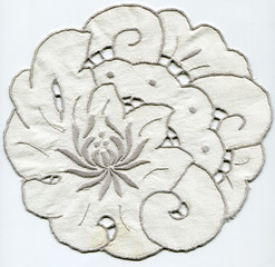 Doily with embroidery Rococo