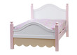 Modern double bed with cotton sheet . With clipping path