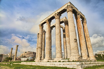Ancient Greek temple of Zeus in Athens
