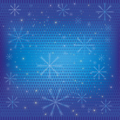 Abstract winter background blue