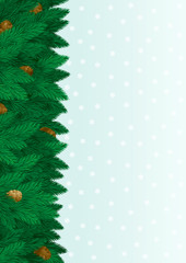 Vector christmas fir tree with copy space for text.