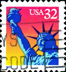 Statue of Liberty. US Postage.