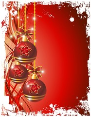 Addobbi Natalizi Sfondo-Christmas Ornaments Background