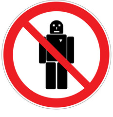 Roboter verboten