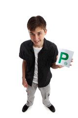 Teenager with licence P Plates