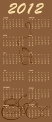 tea style design Calendar for 2012