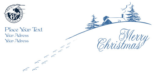 background or template envelope - Happy Christmas And New-Year's