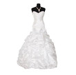 wedding dress isolated