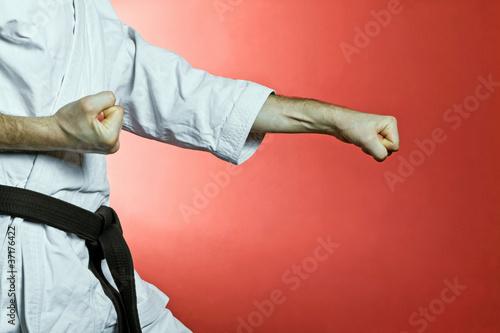 Karate training at gym