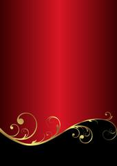 elegant vector background in red/gold/black