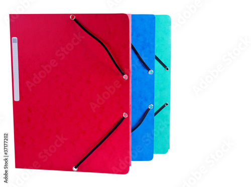 Document Folders on White Background