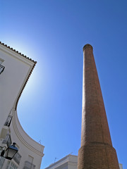 Chimney as industrial heritage, Andalusia, Spain