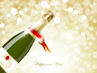 celebrazione nuovo anno con champagne