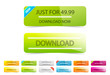 Vector clean download buttons