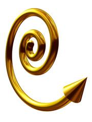 goldene Spirale mit Pfeil
