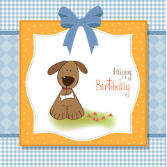 birthday card with dog