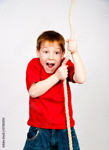 boy with a rope
