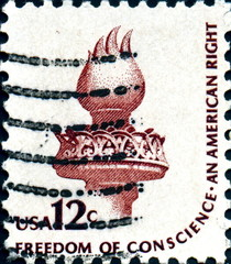 Freedom of conscience. An american right. US Postage