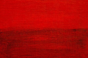 Material painted in red. Painted backgrounds.