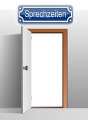 Tür Sprechzeit