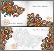 set of three flower background design
