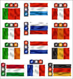 Traffic lights and flags - Europe