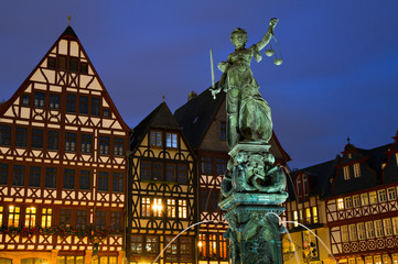 Medieval Timberframe houses and Lady Justice