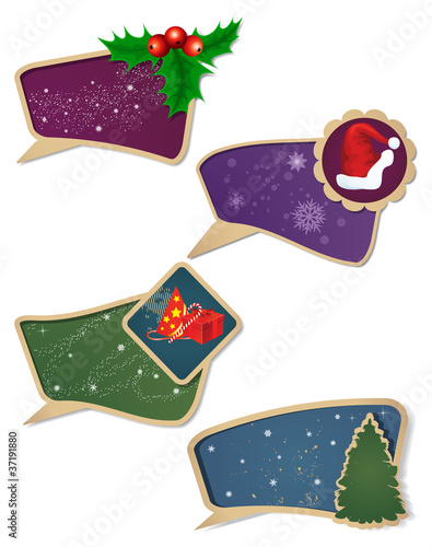 Set of Christmas gift  tag.
