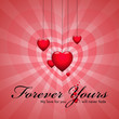 valentine's day hearts wallpaper vector illustration