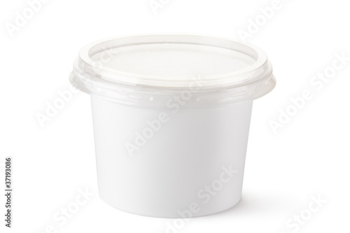 Plastic container for dairy foods