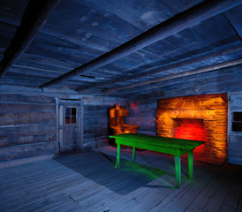 Light Painted Cabin Iinterior