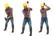 Man using sledge-hammer