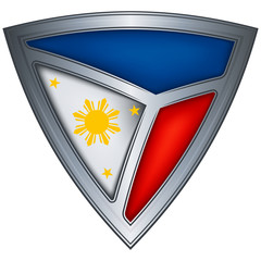 Steel shield with flag Philippines