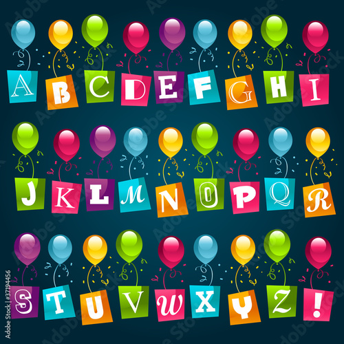 Party Balloons Alphabet