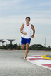 Asian male runner