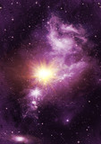 Fototapety Stars of a planet and galaxy in a free space