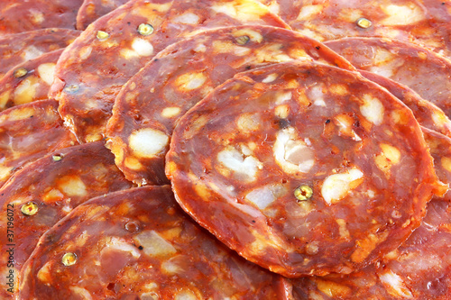 fresh spicy Spanish chorizo (sausage) - Salami / Pepperoni