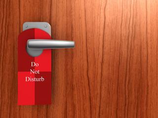 do not disturb on hotel door