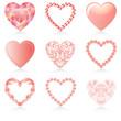 pink heart set