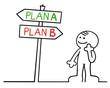 figur wählt plan A oder plan B